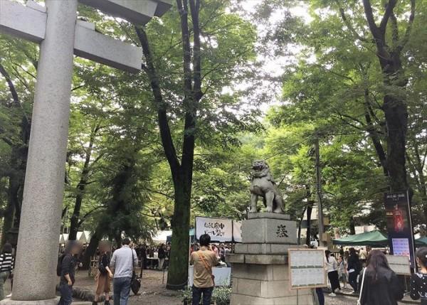 大國魂神社のビール祭り会場(府中市)