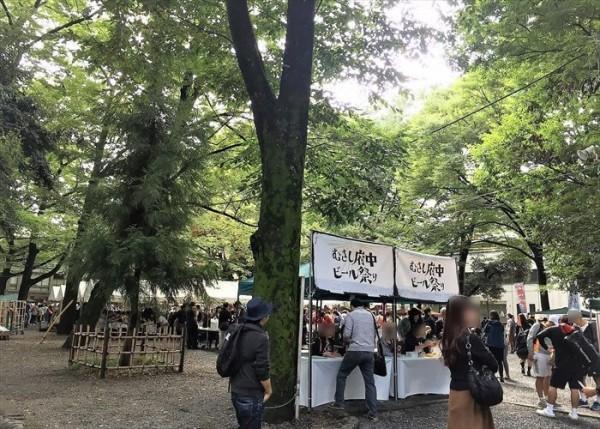 むさし府中ビール祭りの受付(チケット販売場)